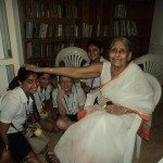 Grade 5 students at Panchvati, The Old Age Home