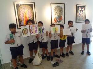 Visit to 'Ojas Art' by students of class III